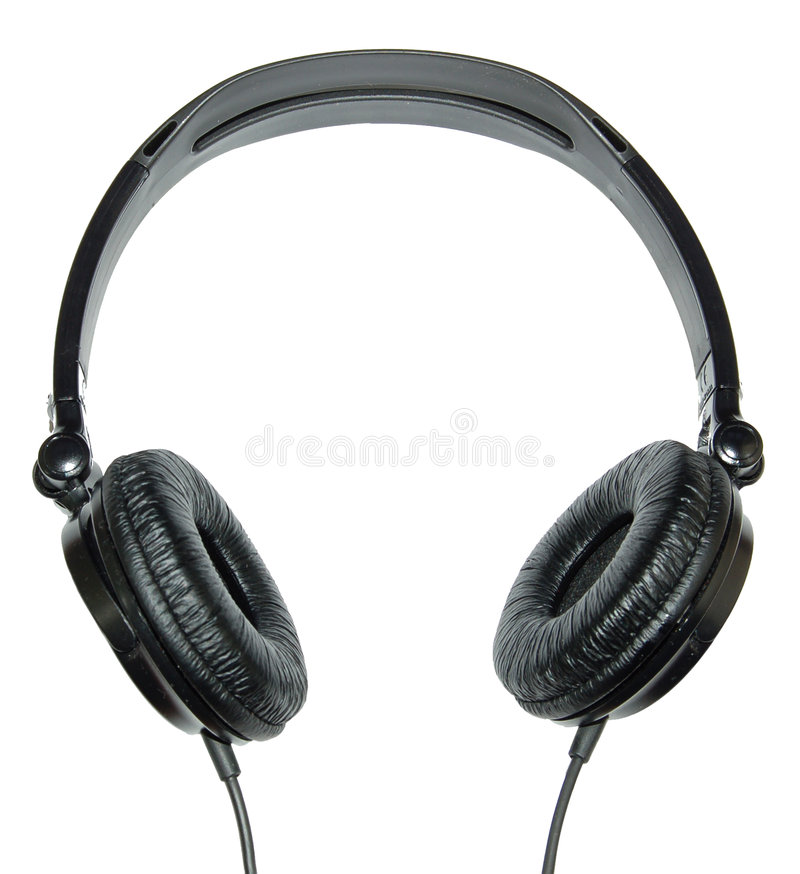 Free Headphones On A White Background Royalty Free Stock Image - 4841946