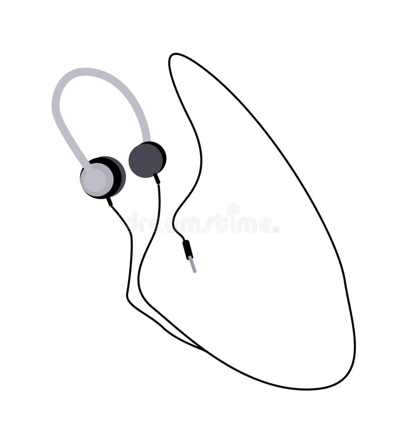 Free Headphones Or Headphones On A White Background Stock Image - 58236051