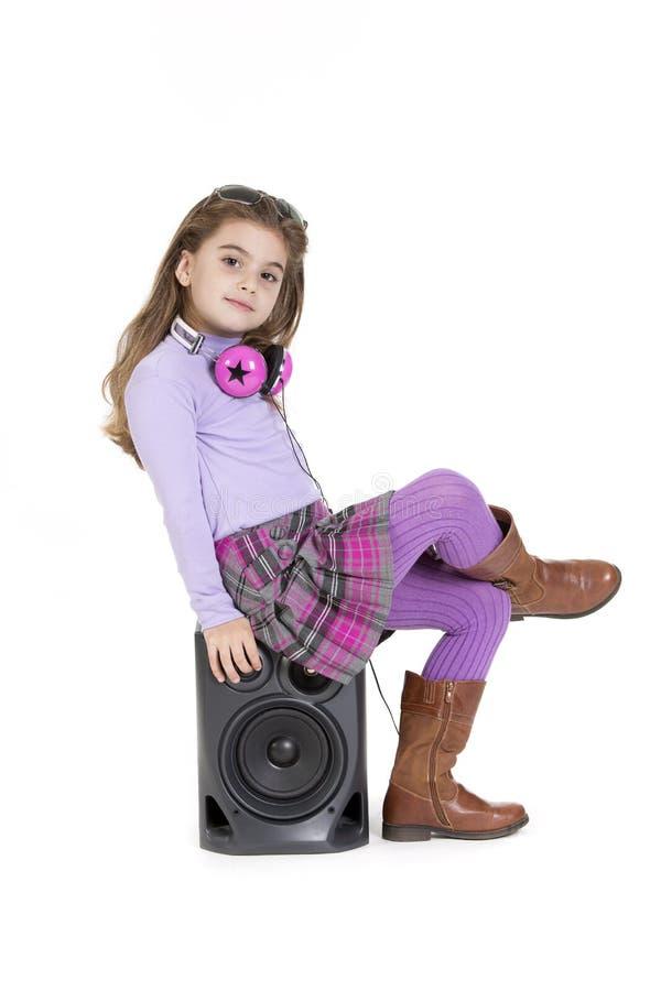 Headphones pink stock photos