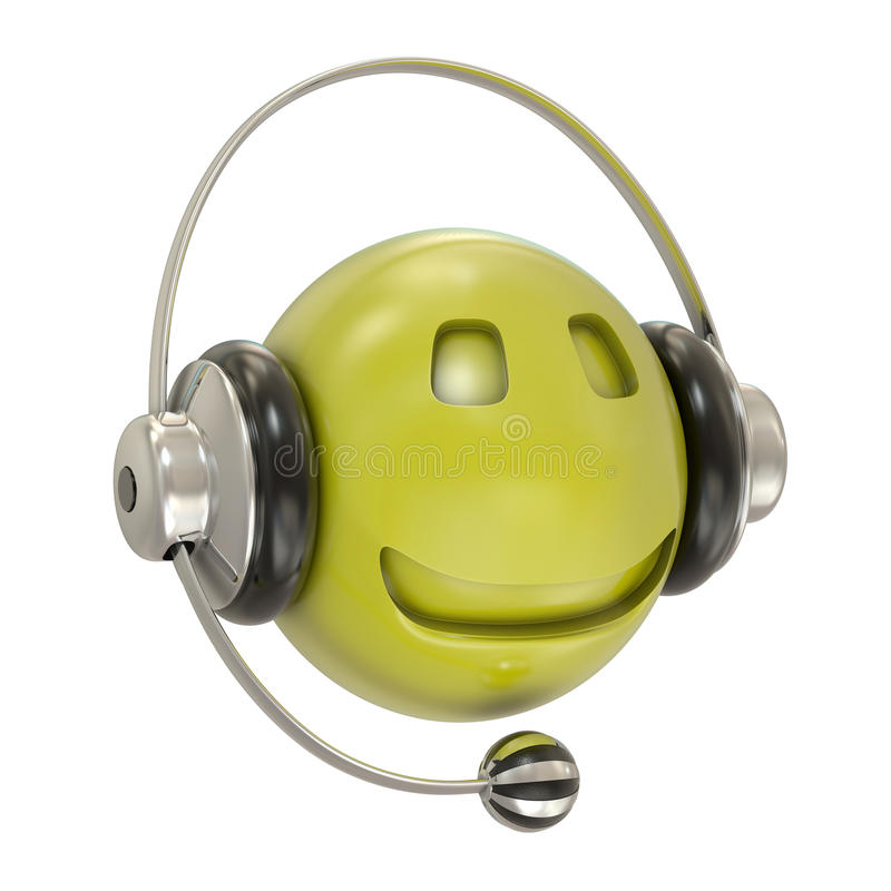 Download Headphones And Smiley Character Stock Illustration - Illustration of leisure, information: 18284303