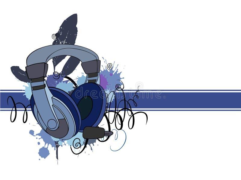 Headphones_with_stripe ilustração do vetor