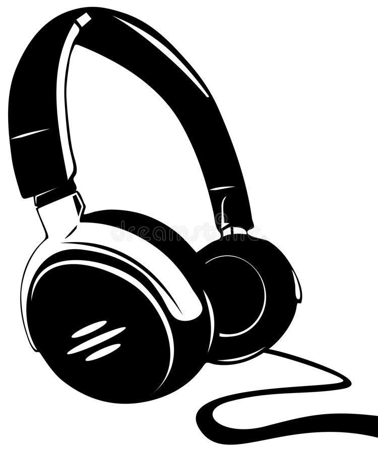 Download Headphones On A White Background Stock Vector - Illustration: 26032422