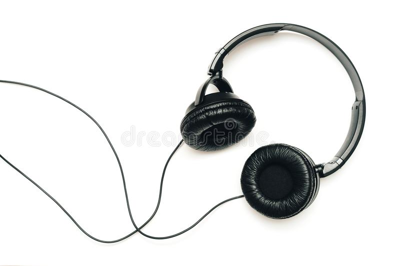 Headphones on white background stock photo