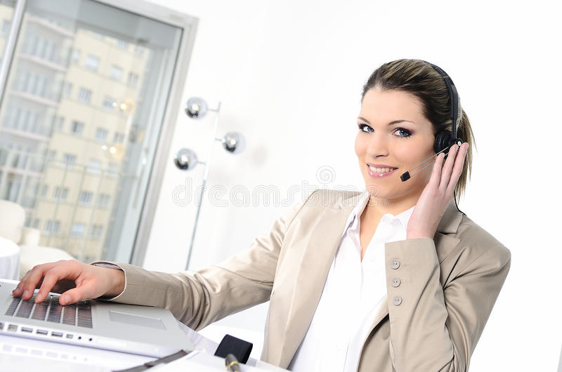 Headphones woman royalty free stock images