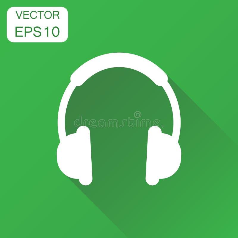 Headphonesymbol Pictogram för affärsidéhörlurhörlurar med mikrofon vektor illustrationer