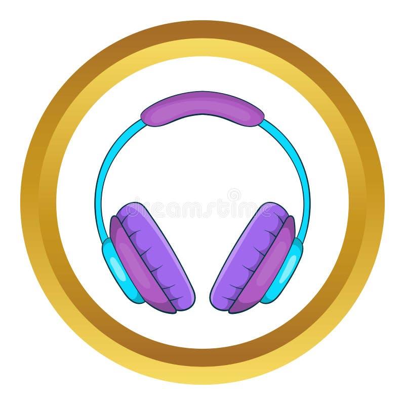 Headphonevektorsymbol vektor illustrationer