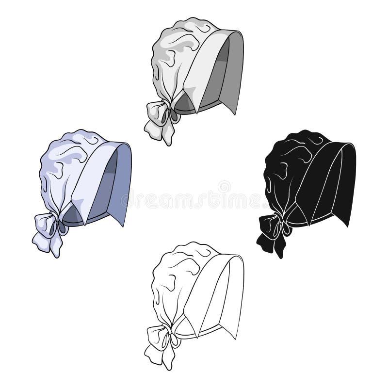 Headpiece, pojedyncza ikona w kreskówka stylu Headpiece, wektorowa symbolu zapasu ilustraci sieć royalty ilustracja