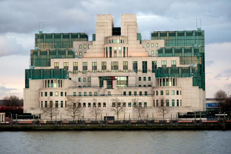 The Headquarters of the British Secret Intelligence Service Mi6. London, 18th January 2018:- The Headquarters of the British Secret Intelligence Service Mi6 stock photo