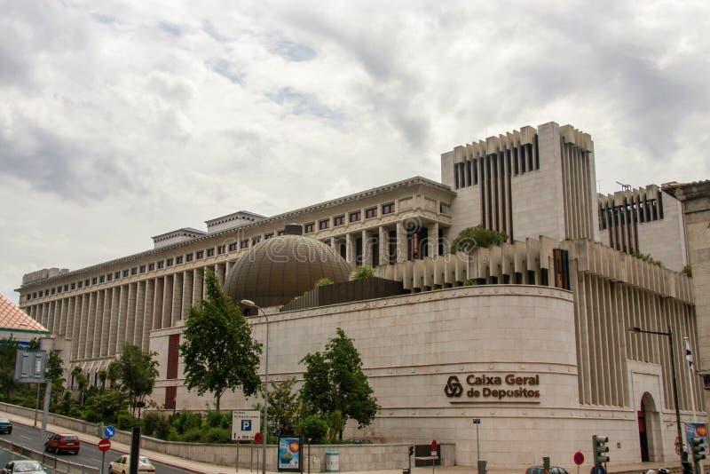 Headquarters of Caixa Geral de Depositos Portuguese state-owned banking corporation. LISBON, PORTUGAL - MAY 7, 2008: Headquarters of Caixa Geral de Depositos stock photos