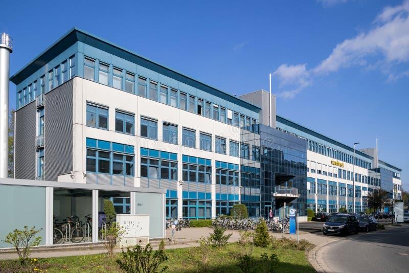 Headquarters of the Comdirect Bank. QUICKBORN, GERMANY - APRIL 9, 2019: Headquarters of the Comdirect Bank. Comdirect bank AG is a German direct bank. It offers stock photo