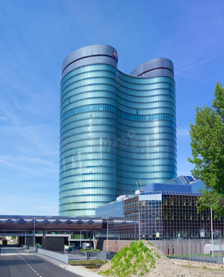 Headquarters of dutch bank. Modern rabobank headquarters building in utrecht, netherlands. Rabobank is a Dutch bank, consisting of 136 (2013) independent royalty free stock photos