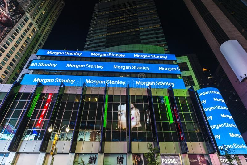Morgan Stanley Headquarters Editorial Stock Image - Image of