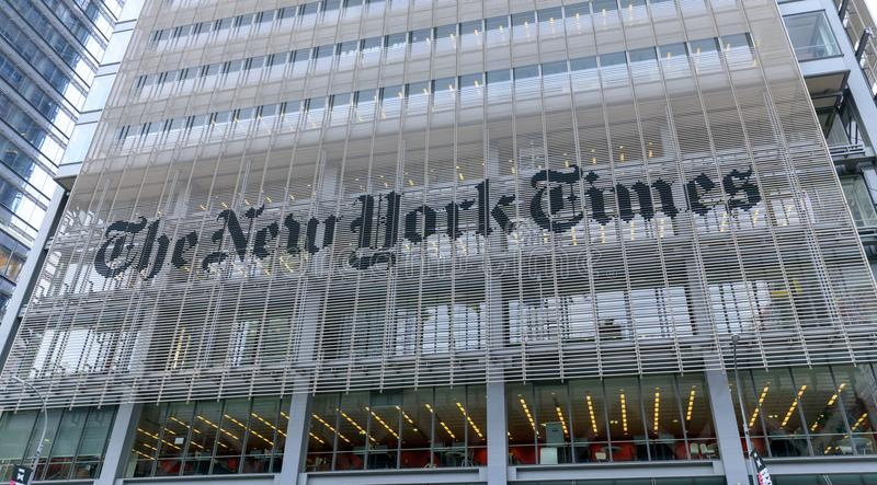 Headquarters of The New York Times, NYC stock photos
