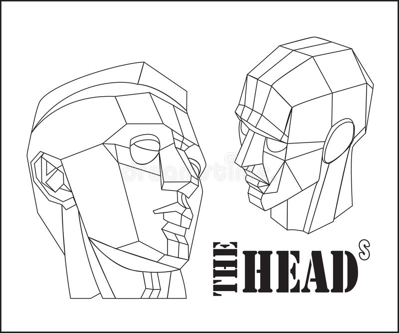 The heads vector illustration