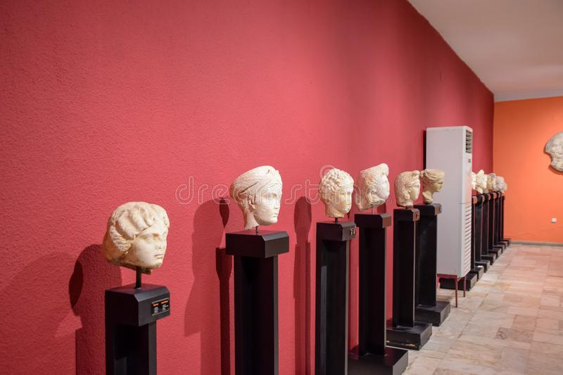 Heads of antique statues royalty free stock images