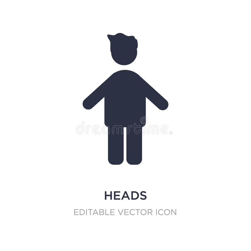 heads icon on white background. Simple element illustration from People concept royalty free illustration