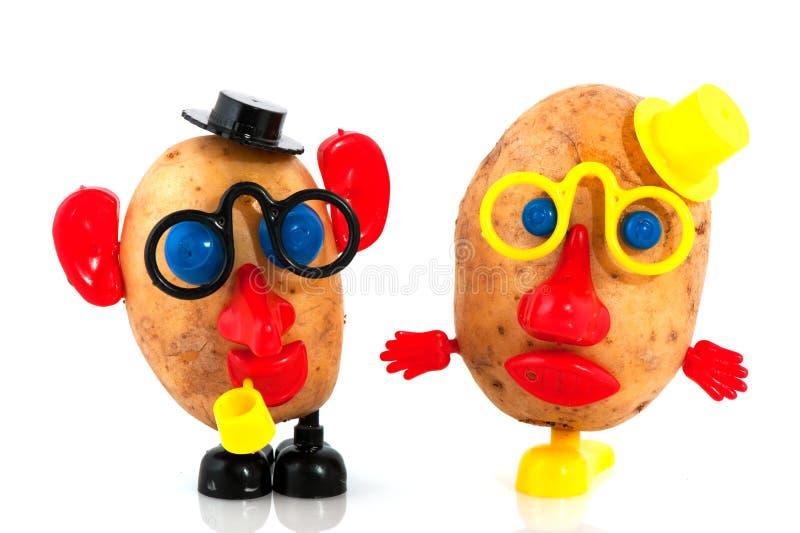 heads potatisen arkivbilder