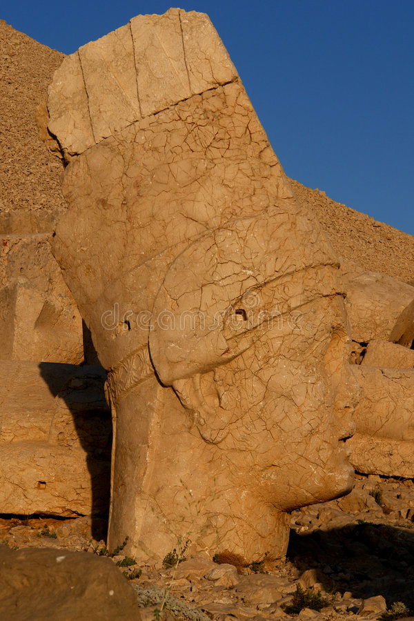 Heads of the statues on Mount Nemrut. Heads of the colossal statues on Mount Nemrut stock photos