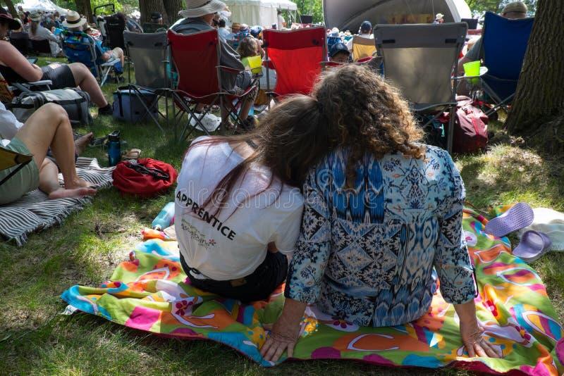 Heads Together. Winnipeg Folk Festival July 2019 royalty free stock photography
