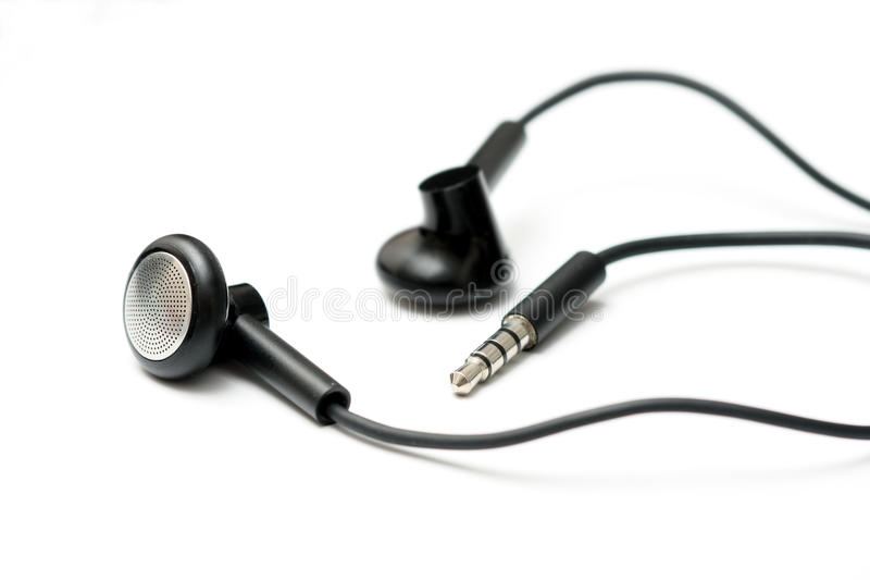 Headset. Or earphone on white background stock image