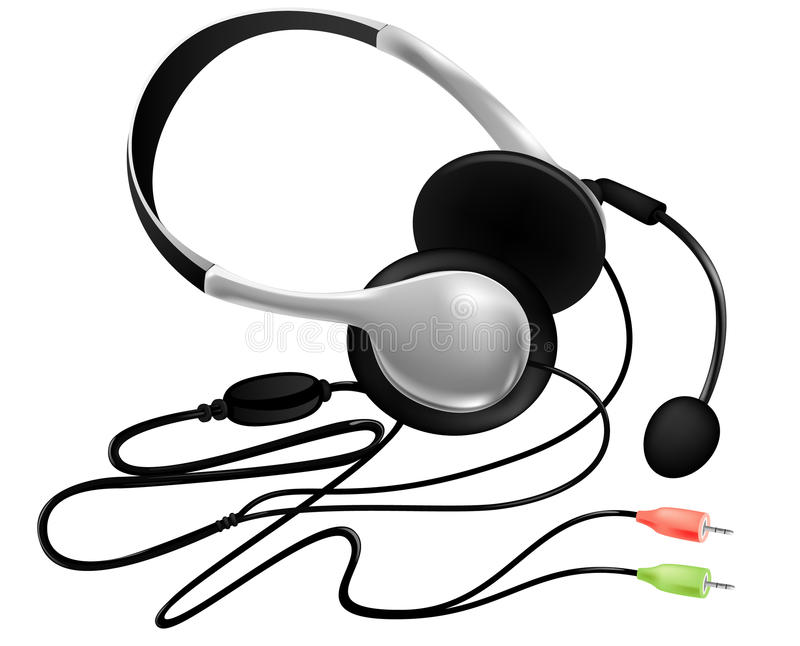 Download Headset with microphone stock vector. Image of color - 25546117