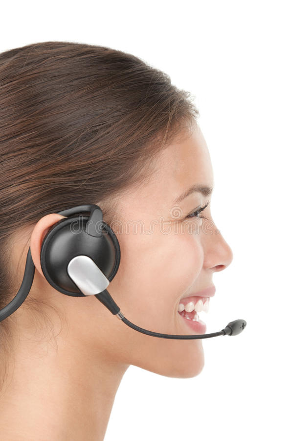 Headset woman royalty free stock photography