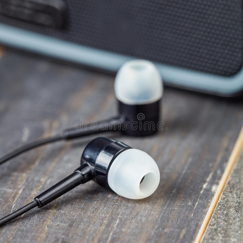 Headsets. Audio Docks Speakers for Mobile Phone, smartphone royalty free stock photo