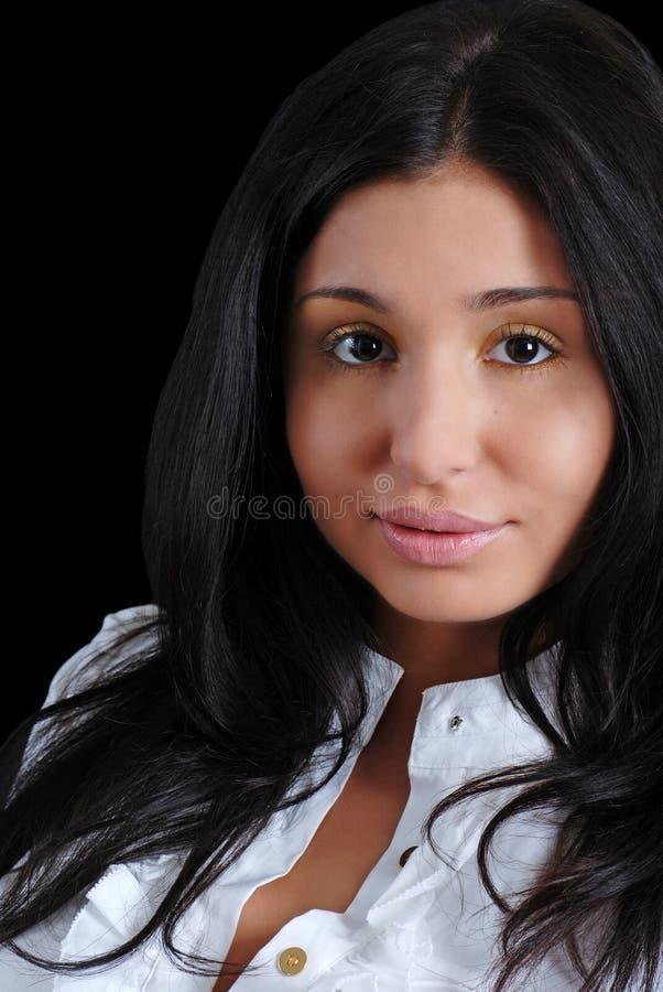 headshot拉丁妇女年轻人 库存图片
