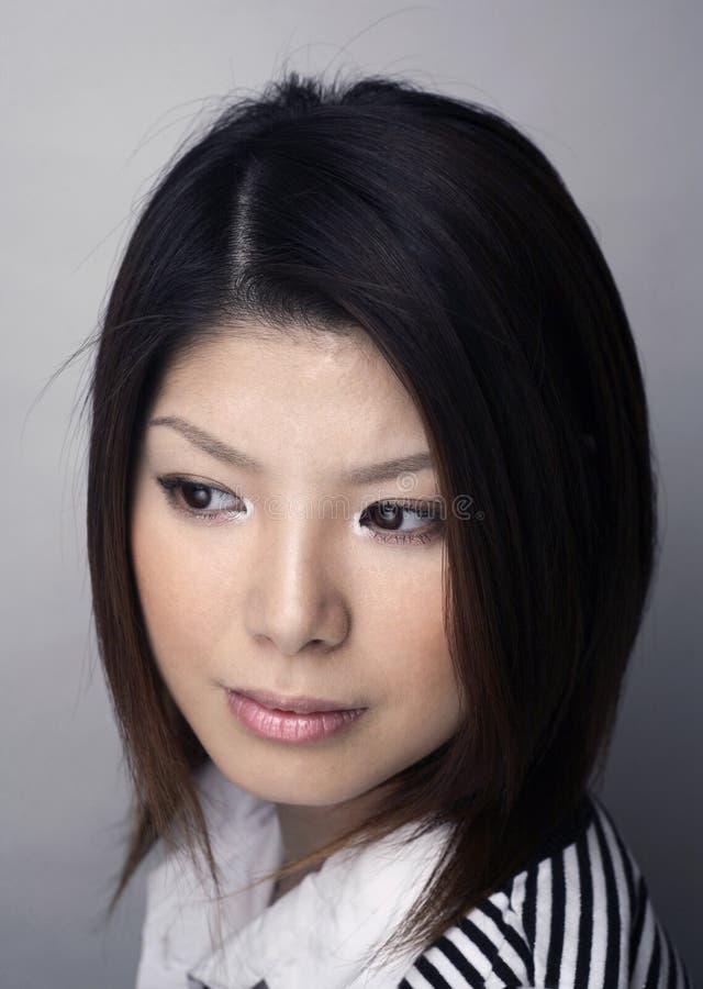 headshot azjatykcia kobieta obraz royalty free