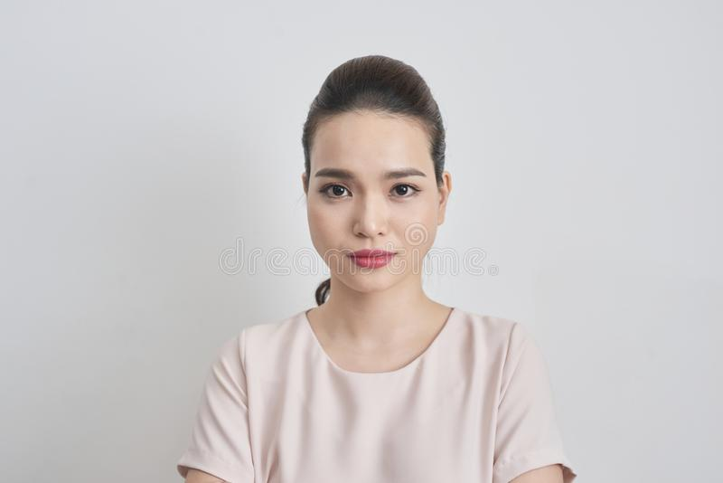 Headshot of cute asian woman professional possibly accountant ar stock images