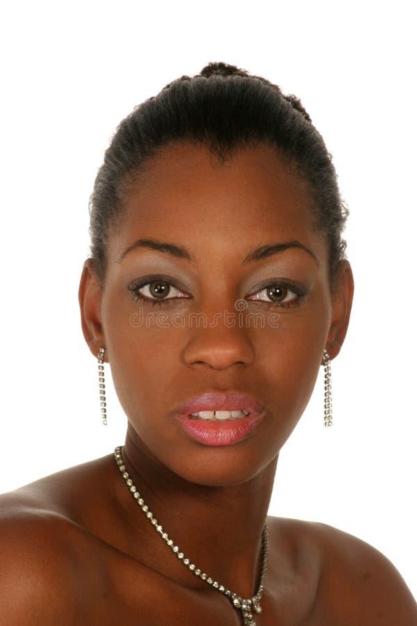 Headshot da mulher encantadora fotografia de stock royalty free