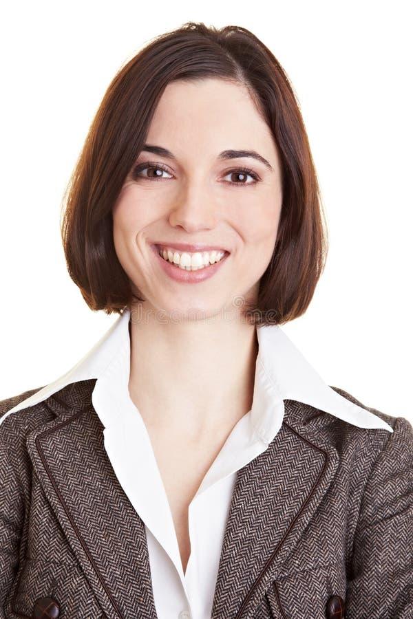 Headshot de femme de sourire d'affaires photographie stock