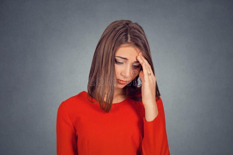 Headshot de jeune femme triste photos libres de droits
