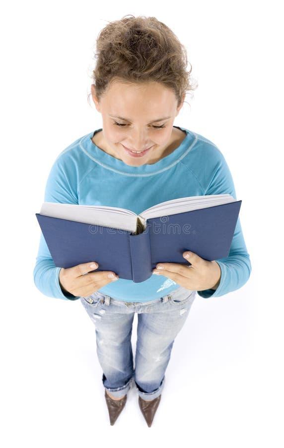 Headshot de la mujer joven con el libro imágenes de archivo libres de regalías