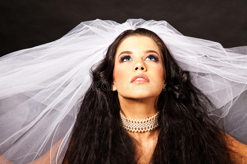 Headshot de mariée photo libre de droits