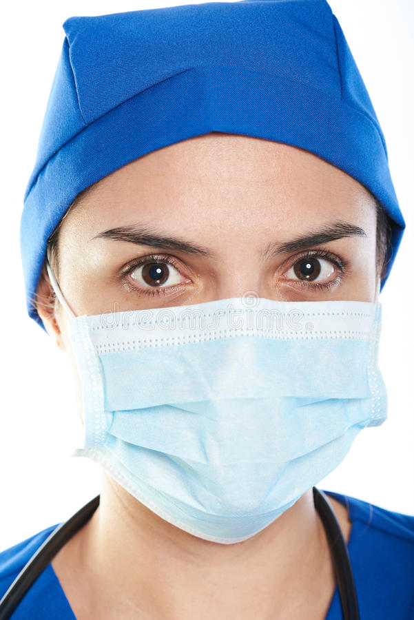 Headshot del doctor de sexo femenino imagen de archivo libre de regalías
