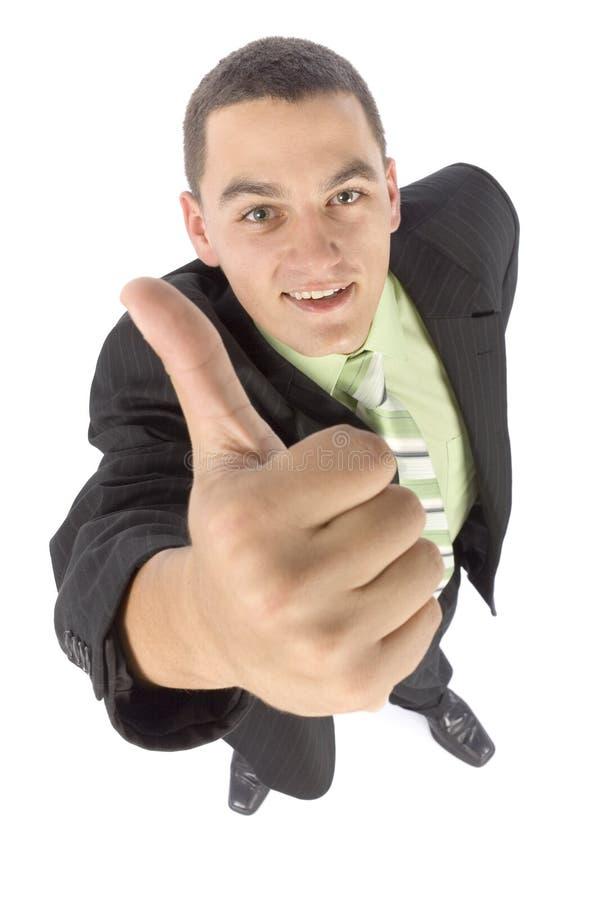 Headshot del hombre de negocios feliz - ACEPTABLE imágenes de archivo libres de regalías