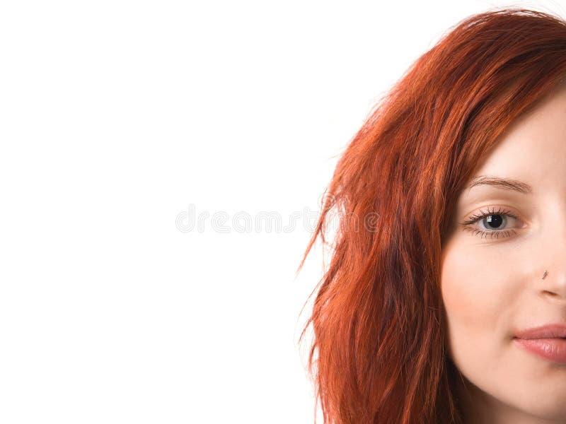 Headshot des attraktiven Mädchens stockbild