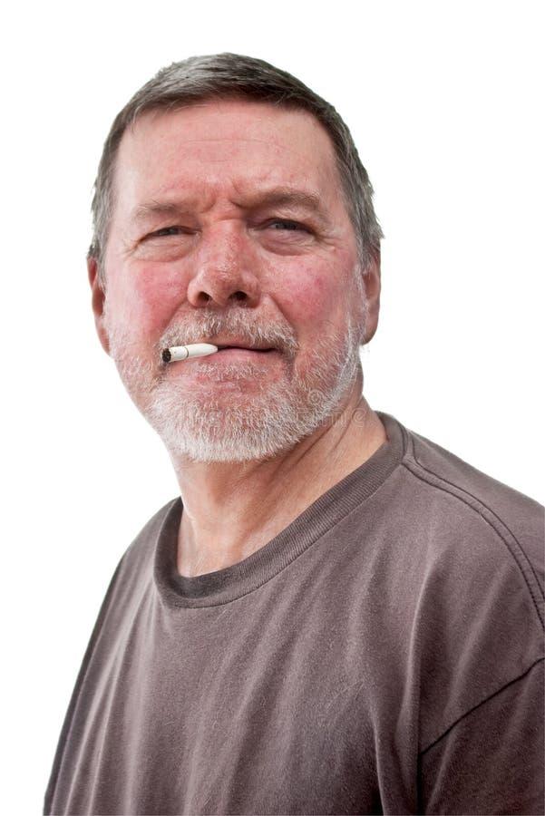 Headshot des fälligen heimatlosen Mannes lizenzfreies stockbild