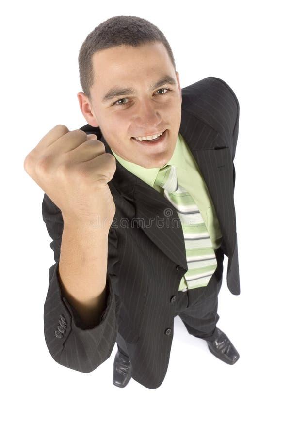 Headshot des glücklichen Geschäftsmannes lizenzfreie stockfotos