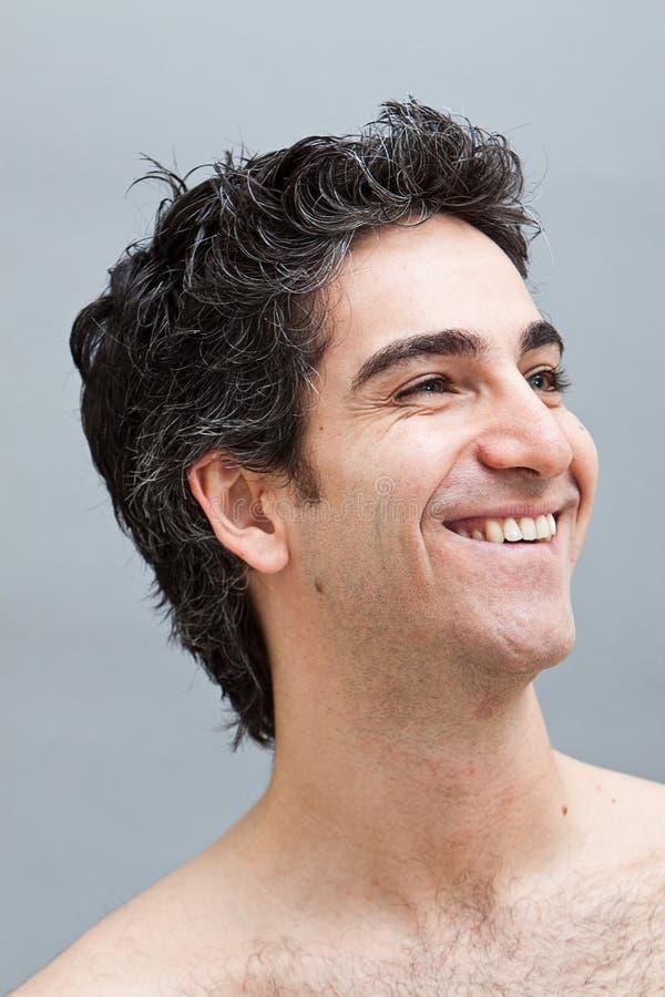 Headshot di un maschio felice sorridente fotografie stock