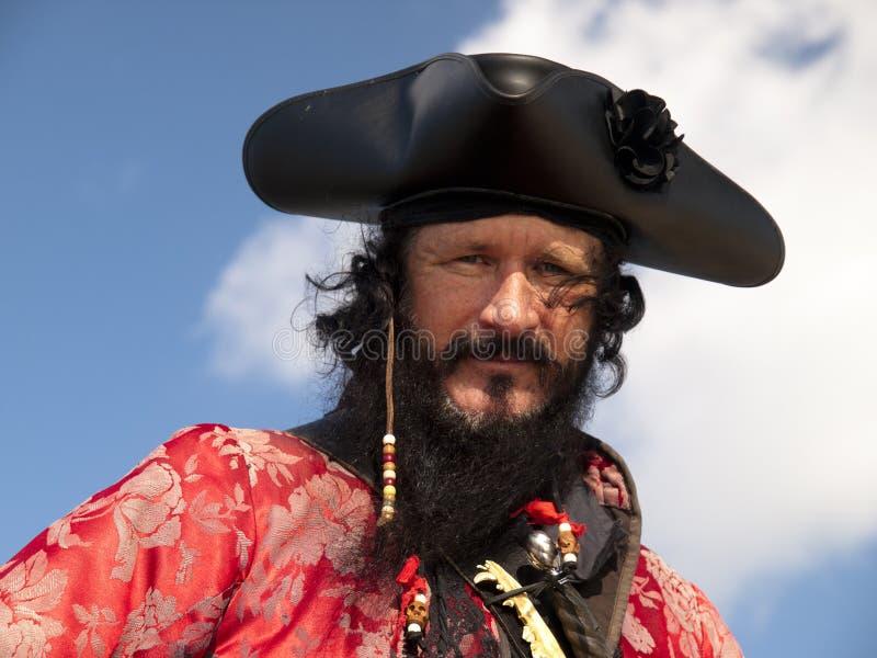 Headshot do pirata de Blackbeard imagens de stock