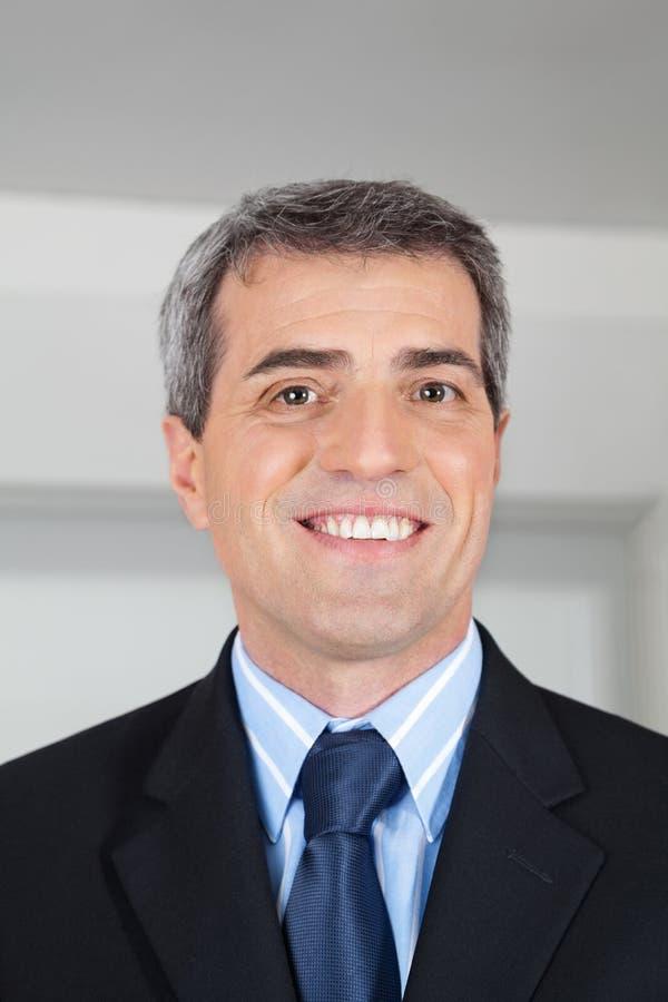 Headshot of elderly businessman stock photo