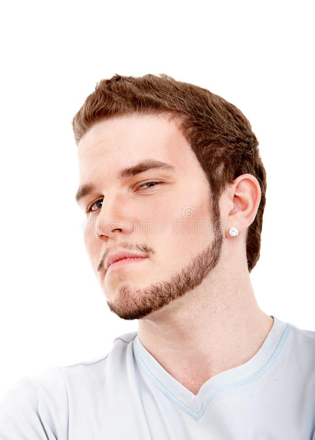 Headshot expressivo do homem fotos de stock