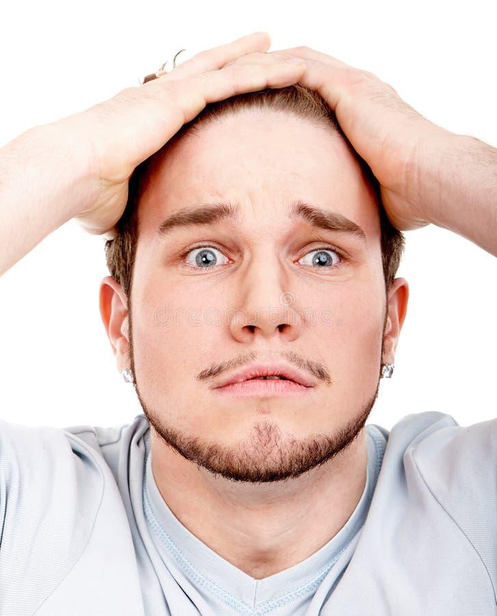 Headshot expressivo do homem imagens de stock royalty free