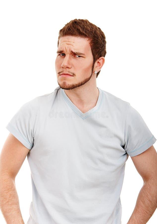 Headshot expressivo do homem foto de stock