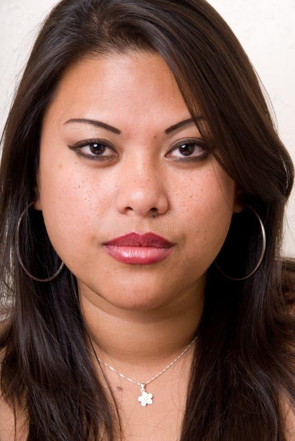 Headshot femenino - serie de la manera foto de archivo