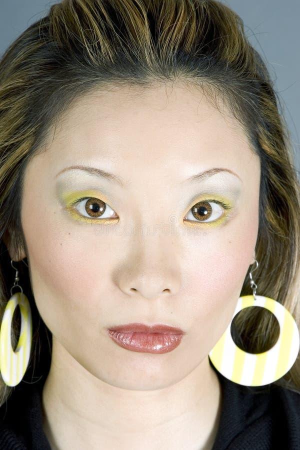 Headshot of a Gorgeous Japanese Woman stock photo