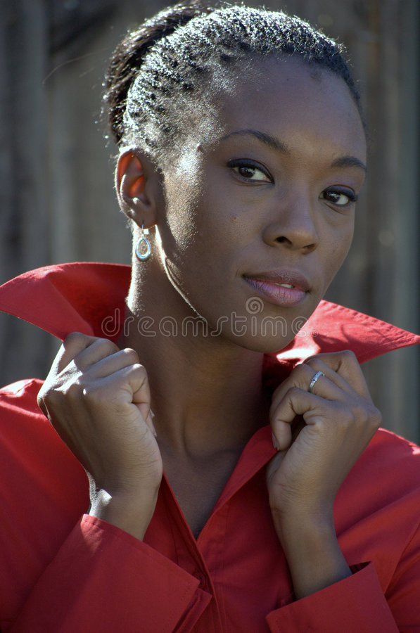 Headshot with hair up royalty free stock image
