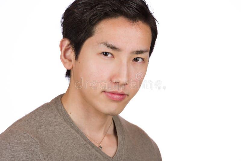 Headshot japonês do homem fotografia de stock